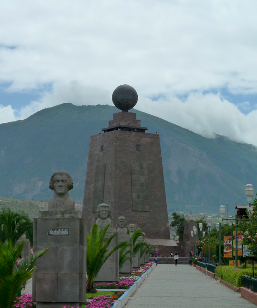 Avenue of the Governors at El Mitad del Mundo