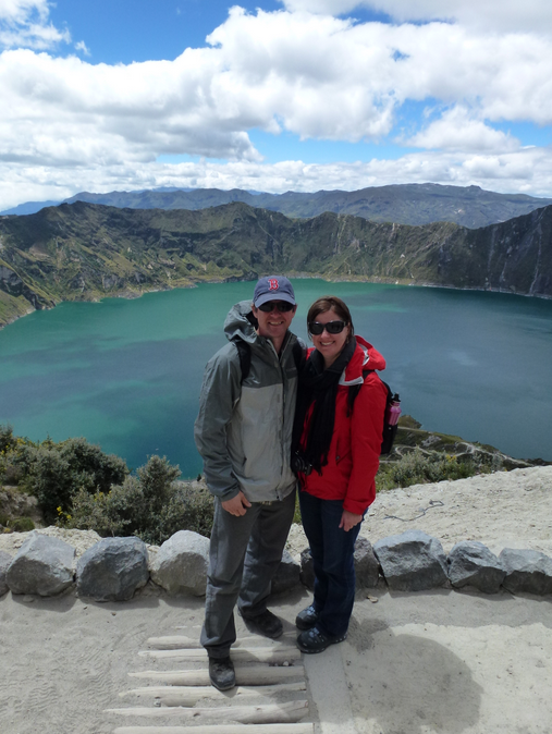 Us at Quilotoa (altitude 3900 meters)