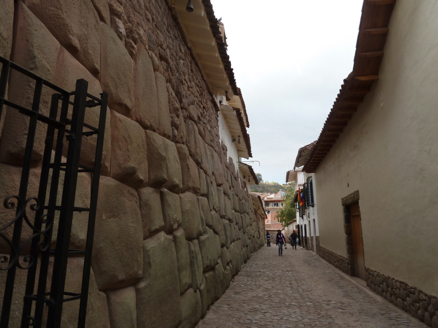 Cusco Street with Incan Wall