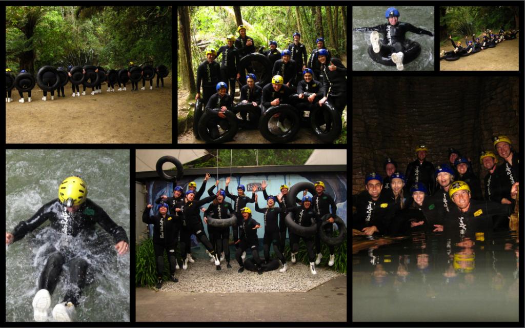 Waitomo Caves Rafting Collage
