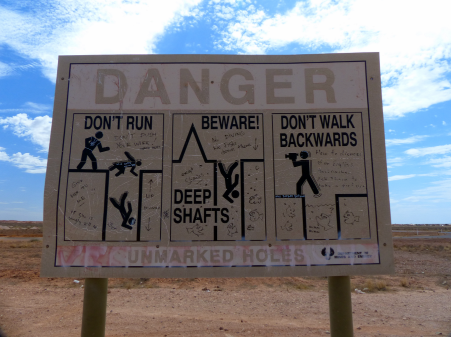 Dangers of Coober Pedy