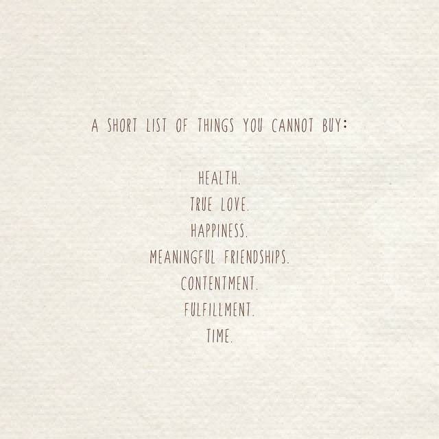 Things You Cannot Buy