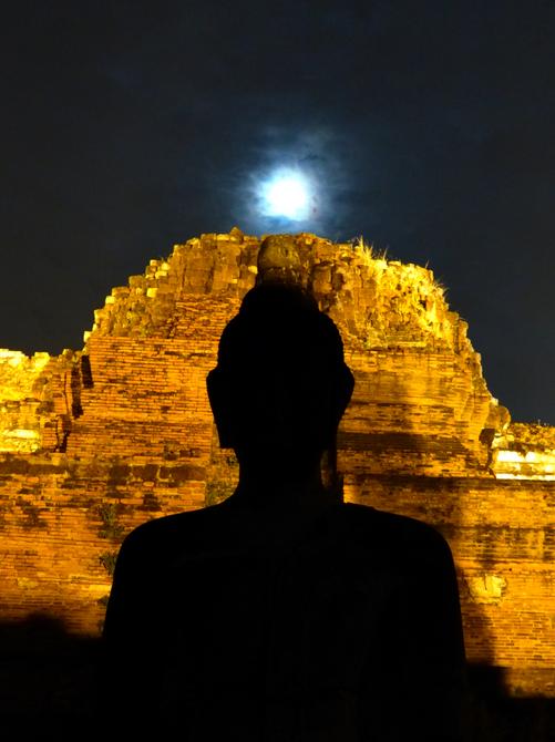 Buddha with Moonrise