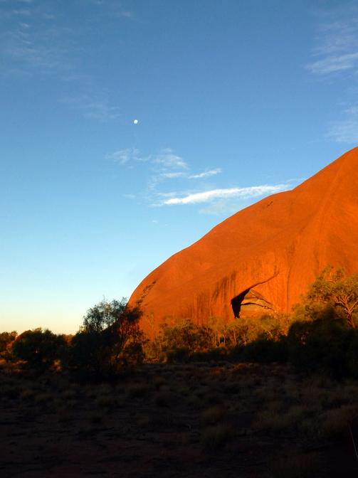 Moonrise over Uluru