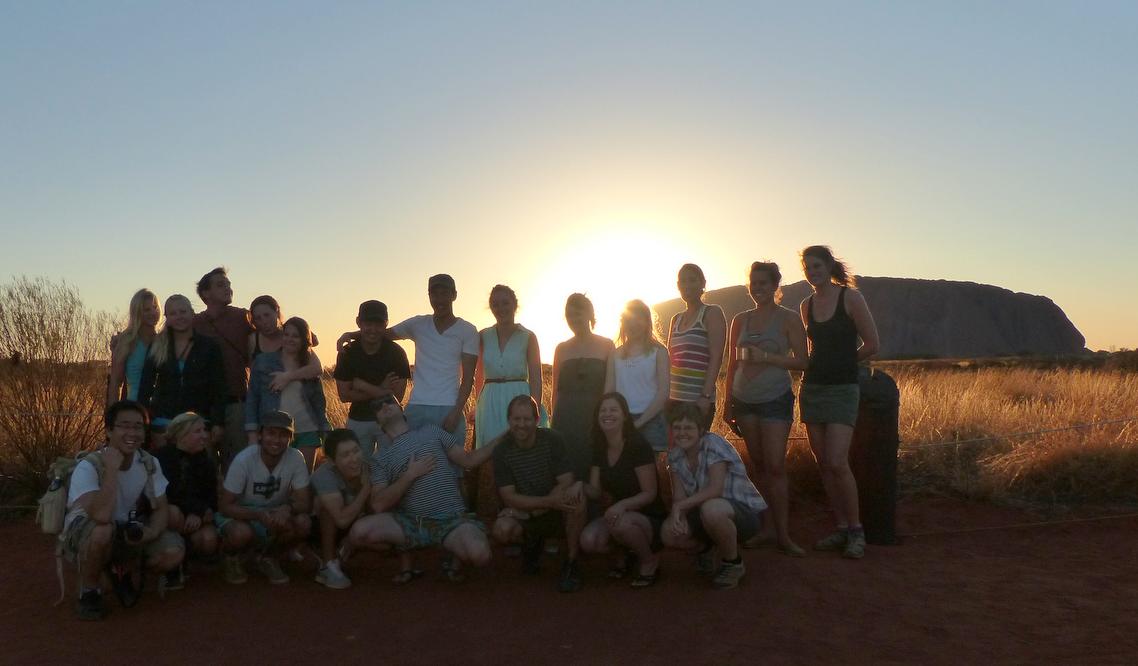 Group Pic at Uluru