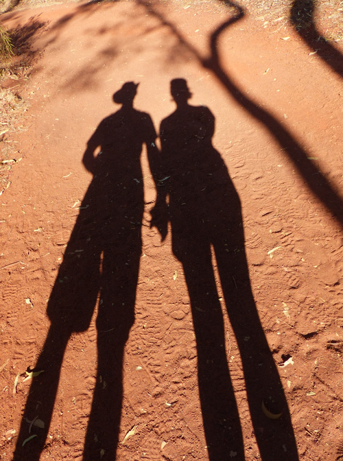 Shadows on the trail