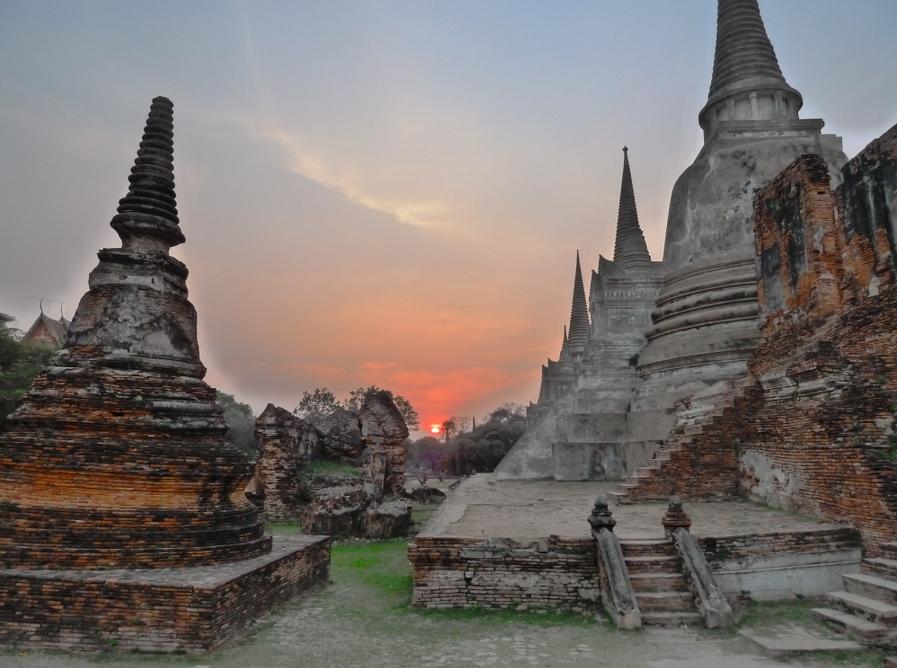 Wat Si Sanphet at Sunset