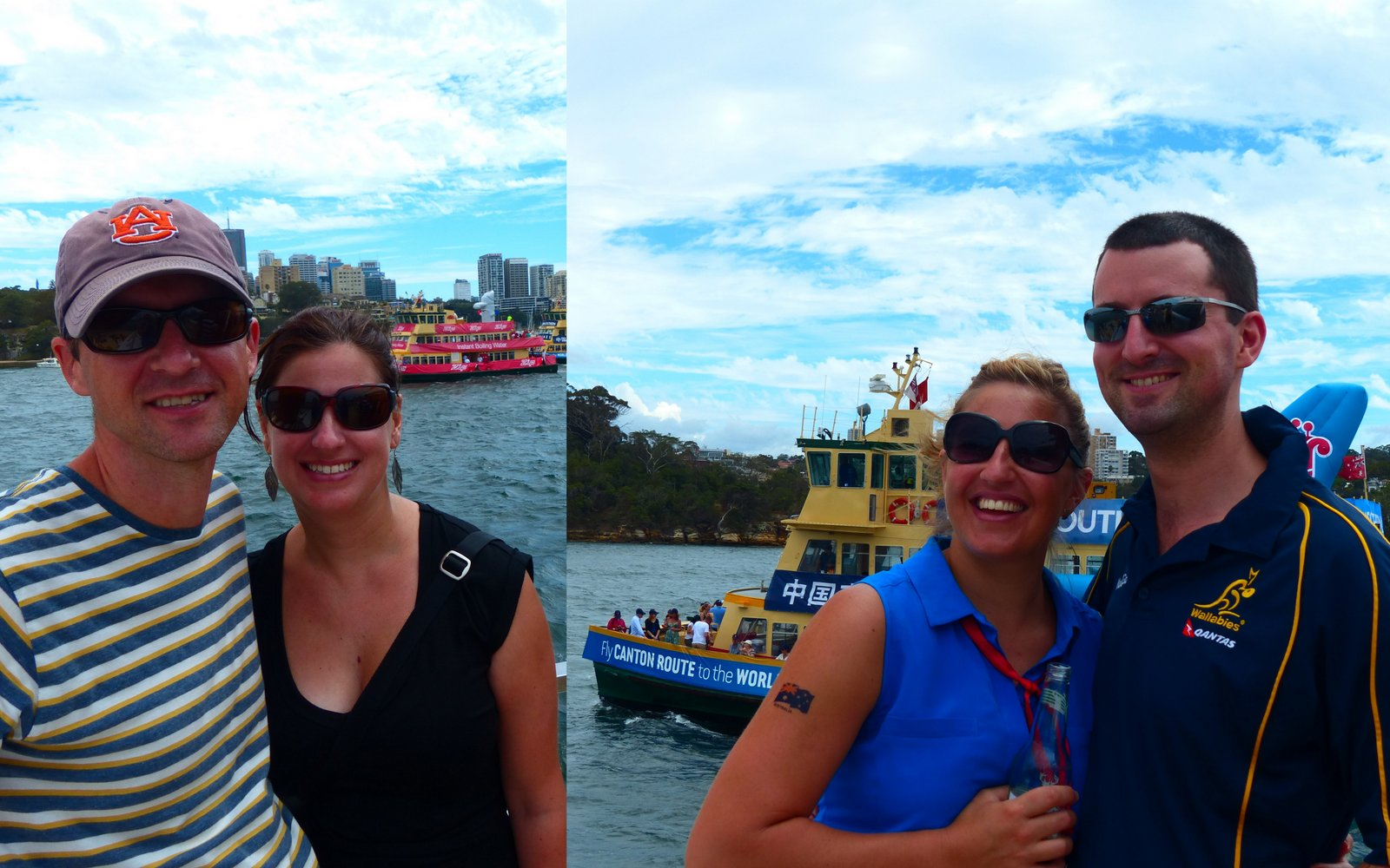 The four of us (in two separate photos) on Aussie Day! (Can you believe we didn't get any photos of the 4 of us together?!)