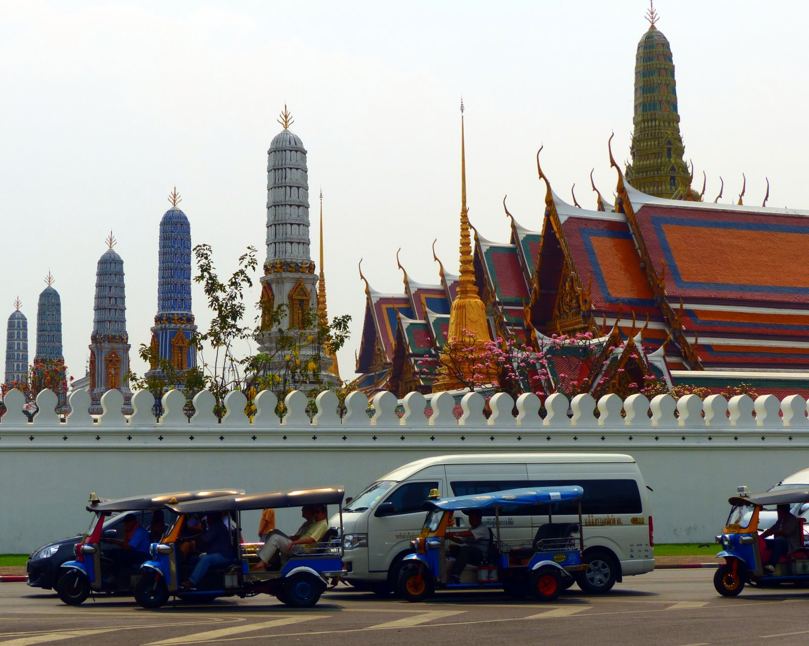 Tuk Tuks outside the Grand Palace