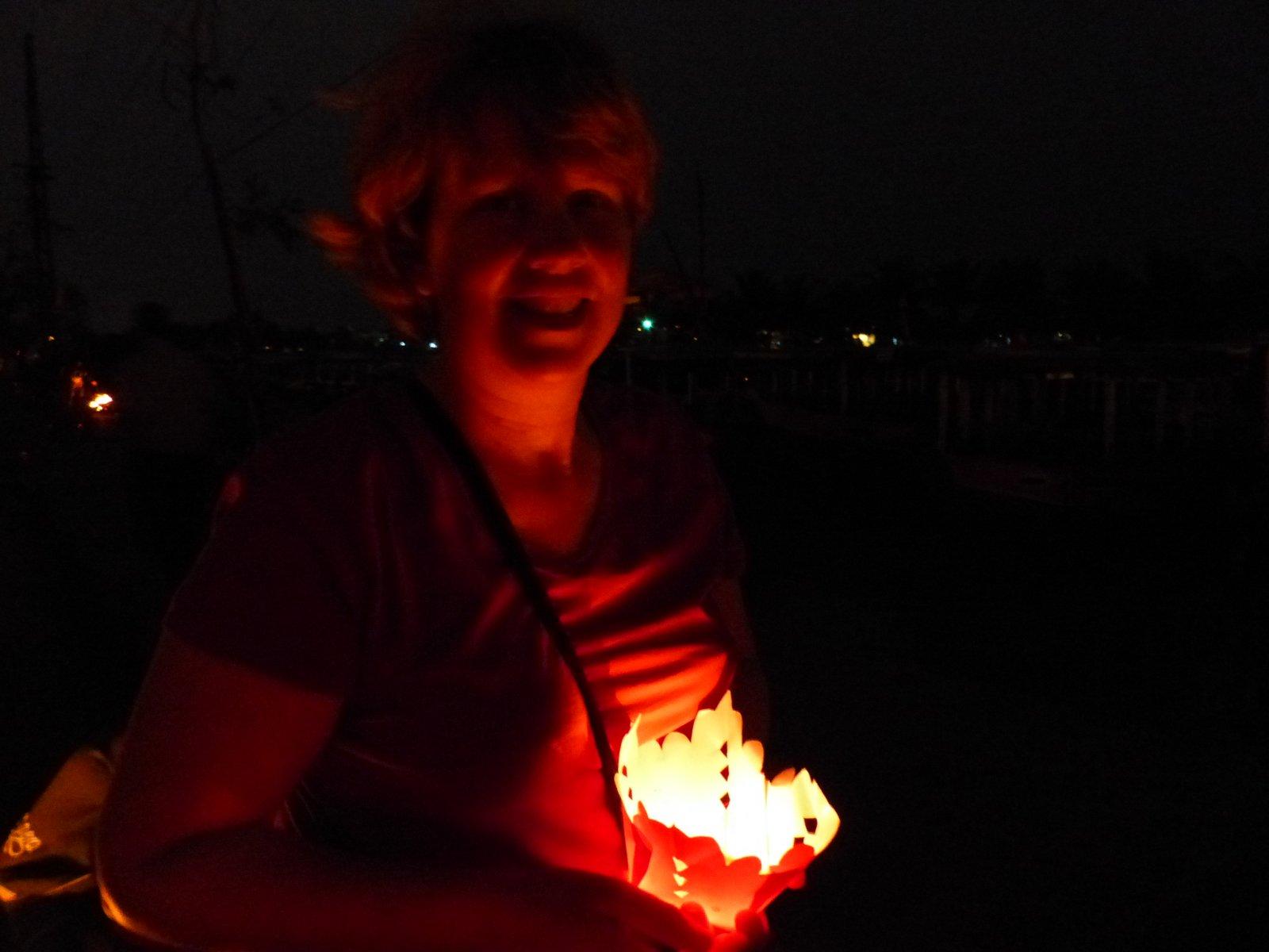 Gwyneth with a lantern