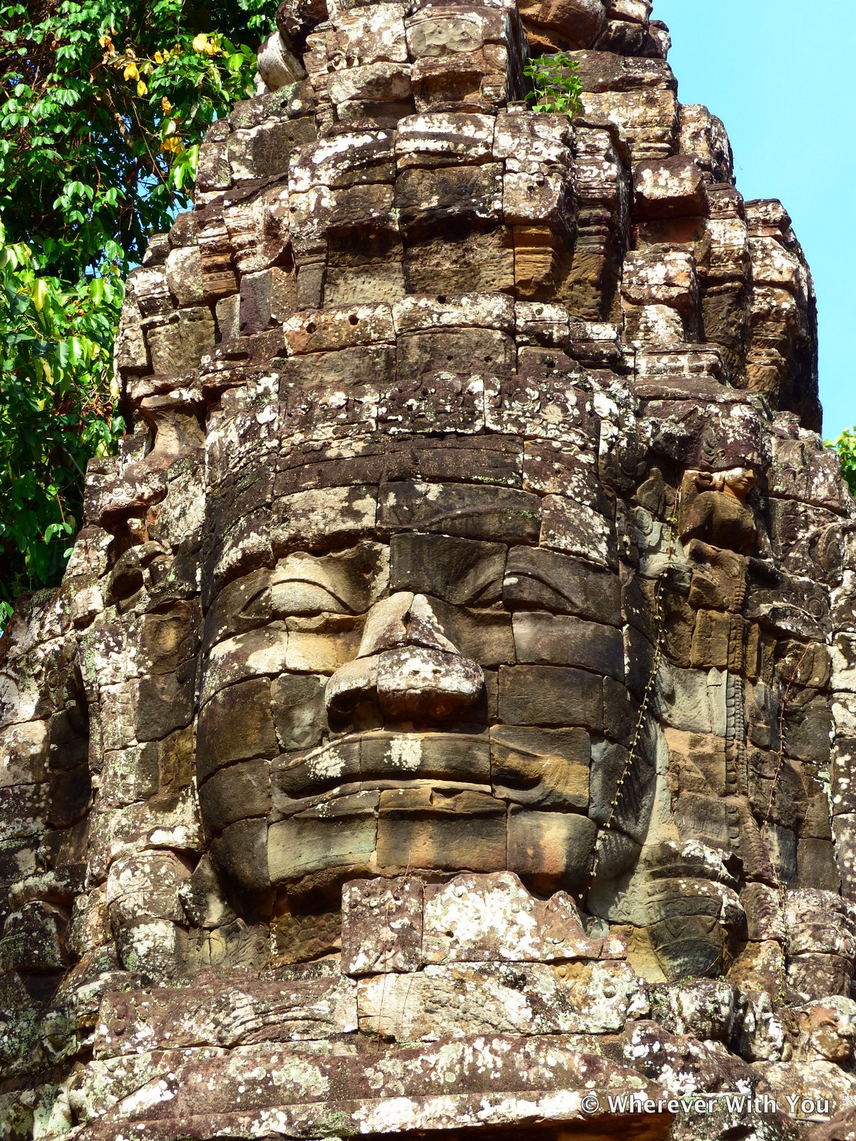 This face tower at Banteay Kdei keeps watch over the gate.