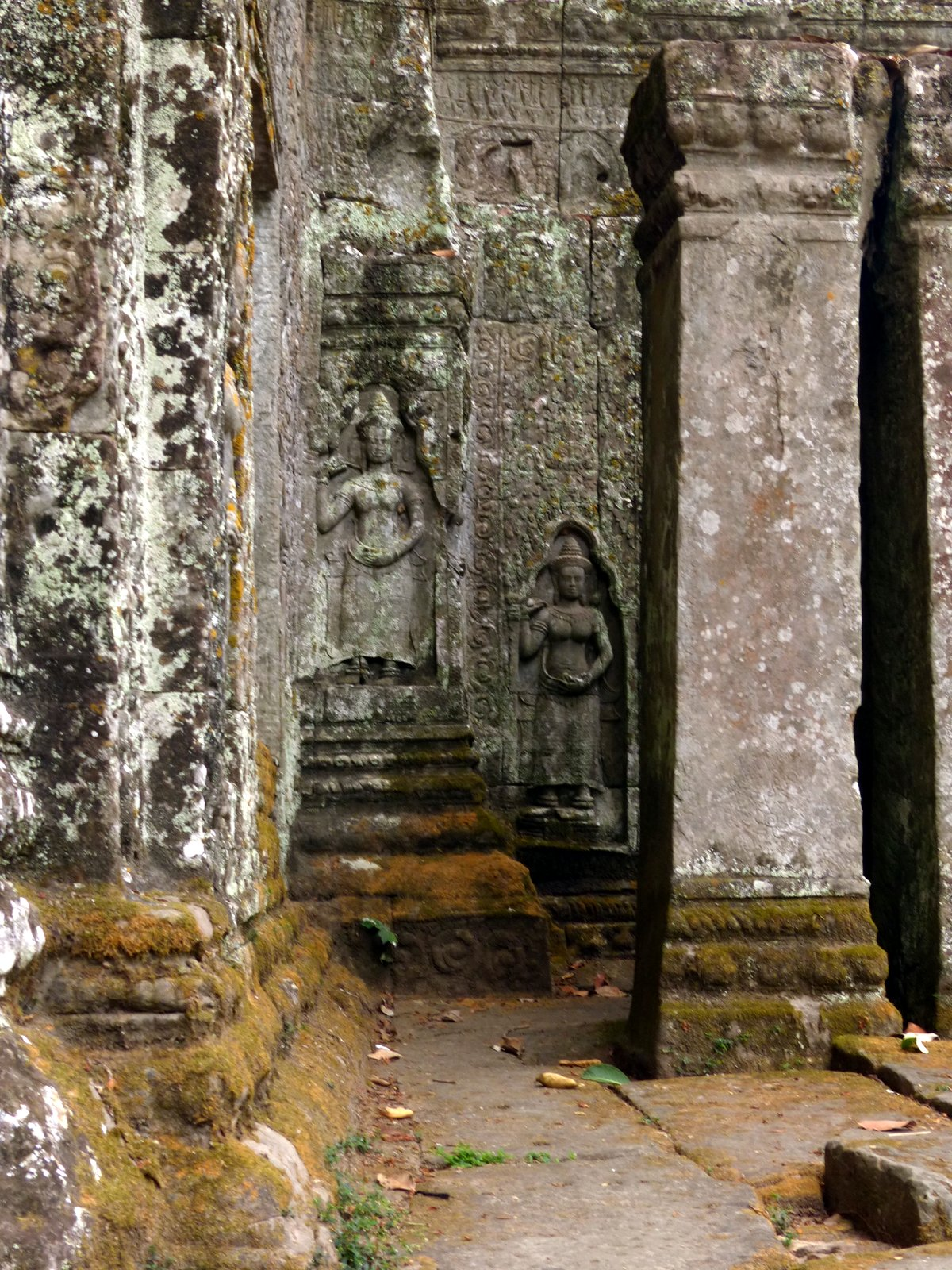 Some of the devara carvings that have survived for centuries.