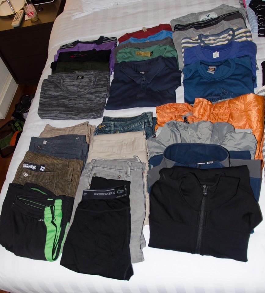 Kyle's Travel Wardrobe