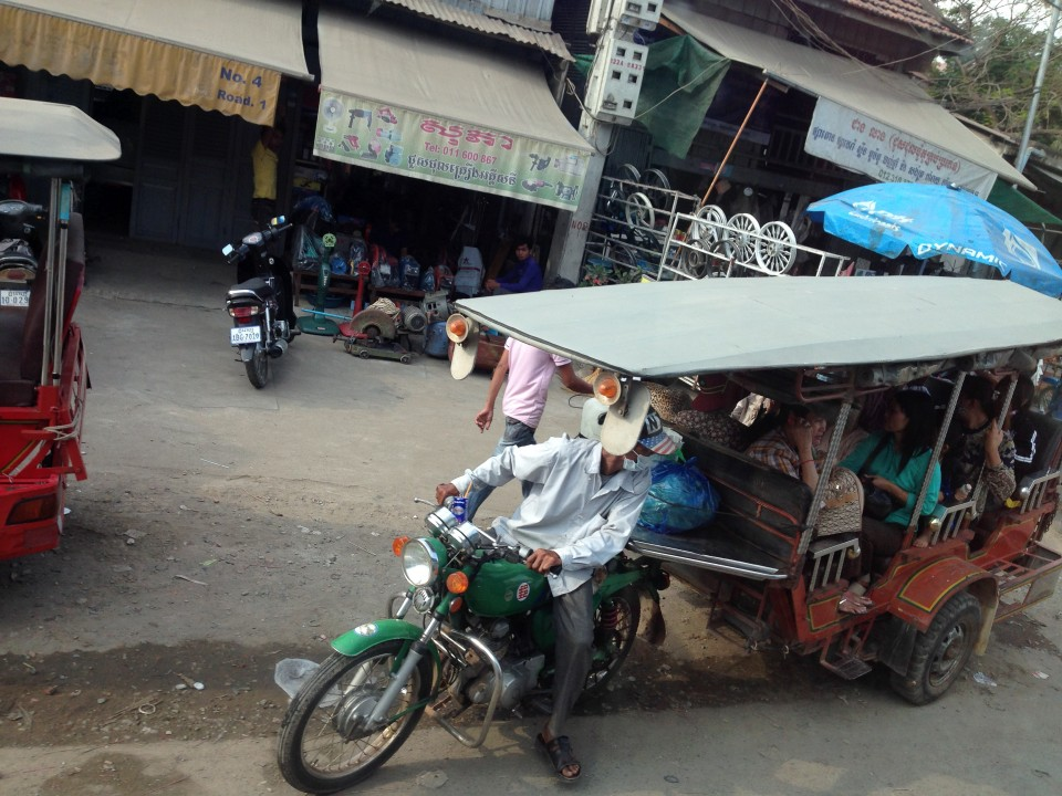 A collective tuktuk ~ the way the locals usually get around, especially to and from work.