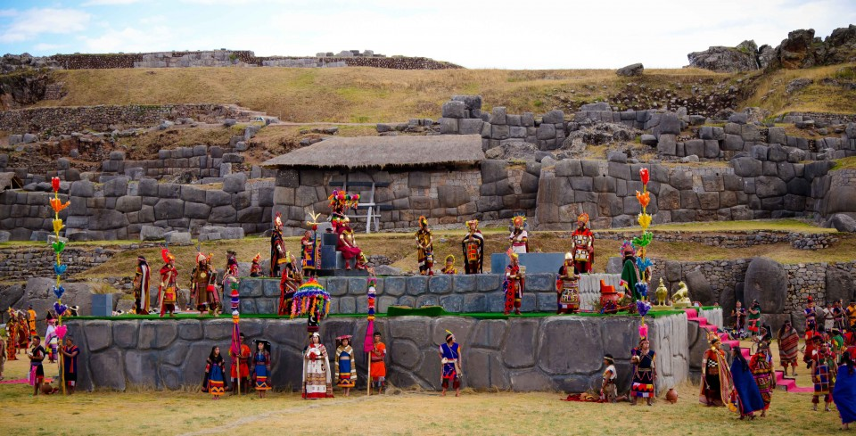 Assembling at Sacsayhuayman