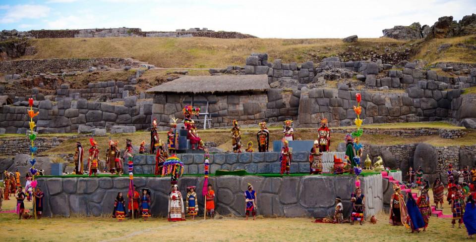 Assembling at Sacsayhuayman