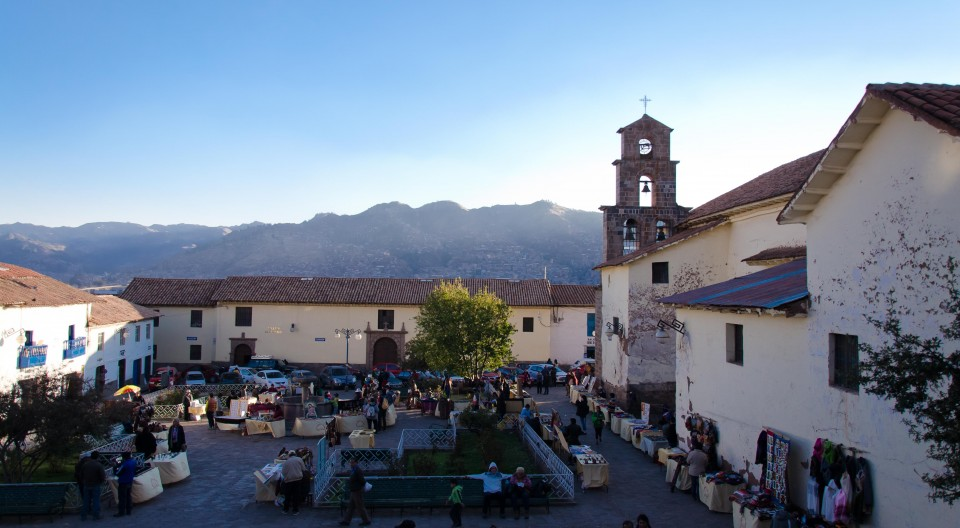 Plaza de San Blas in the late afternoon.