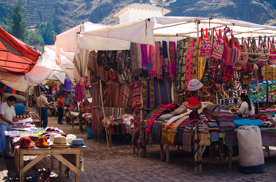 The market we had to navigate in Pisac.