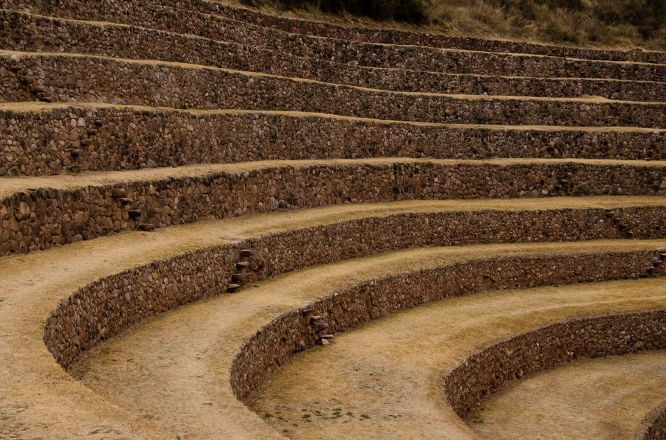 Close up look at the main terraces