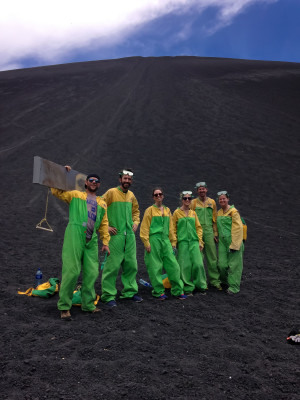 The volcano boarding gang