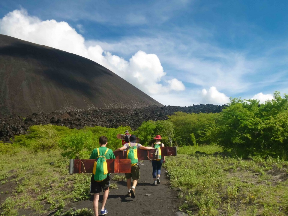 Heading out to hike up Cerro Negro