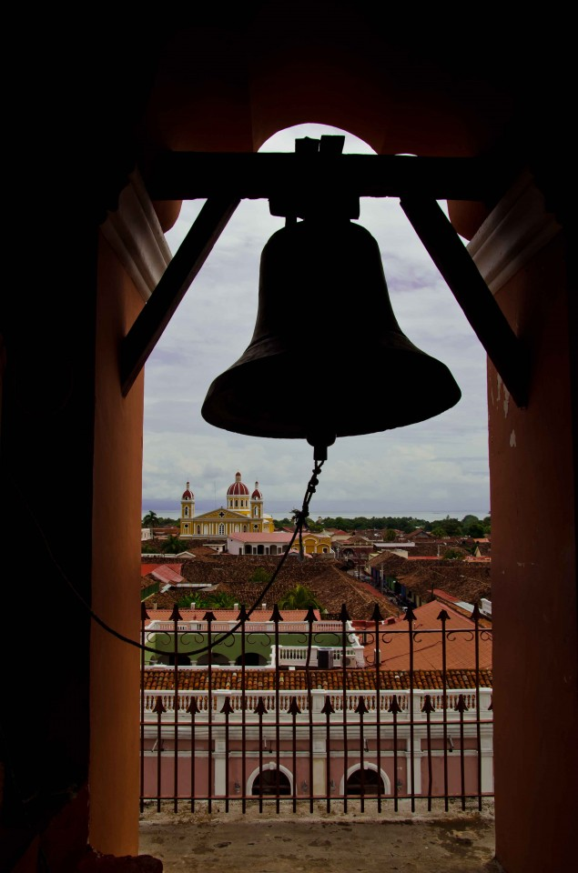 View of the Cathedral from the bell tower of Iglesia Merced.