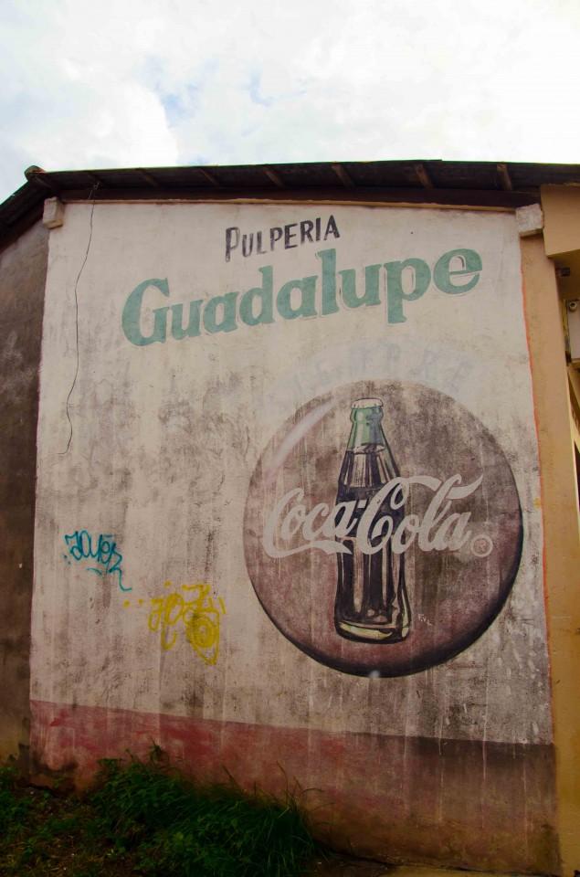Billboard painted on side of building in Granada