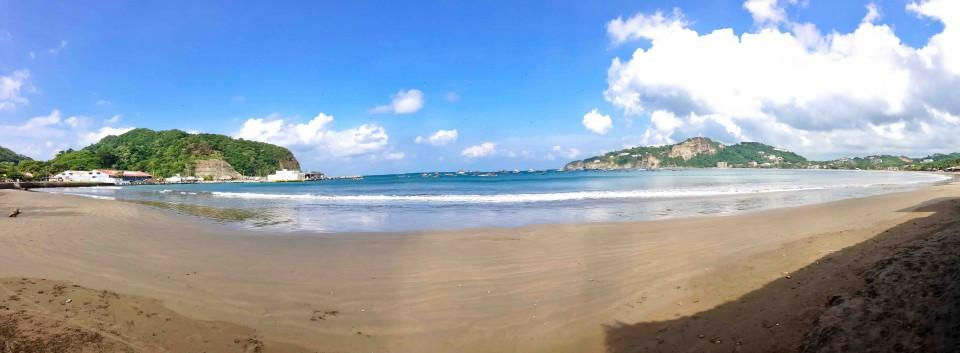 San Juan del Sur's swimming beach.