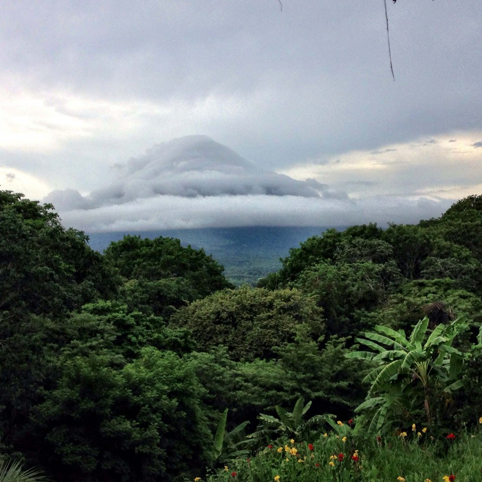 Volcan de Concepcion hiding in the clouds during our stay on Ometepe.