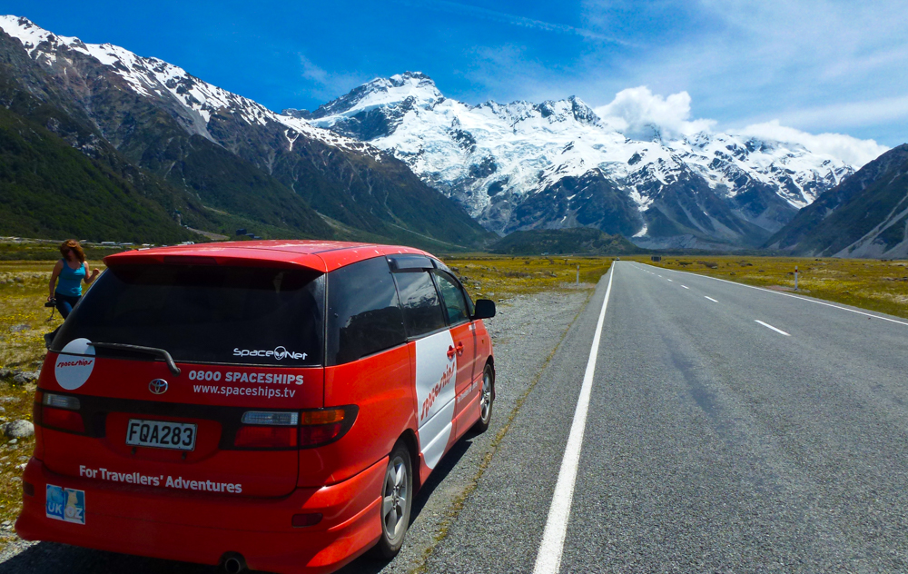 Roadside stop on our way to Aoraki in New Zealand
