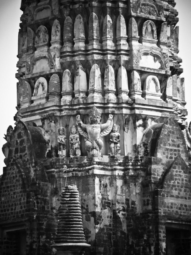 Garuda and other guardians still stand tall at one of the temples.