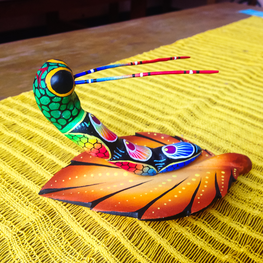 {Bought this colorful alebrije sculpture for the apartment}