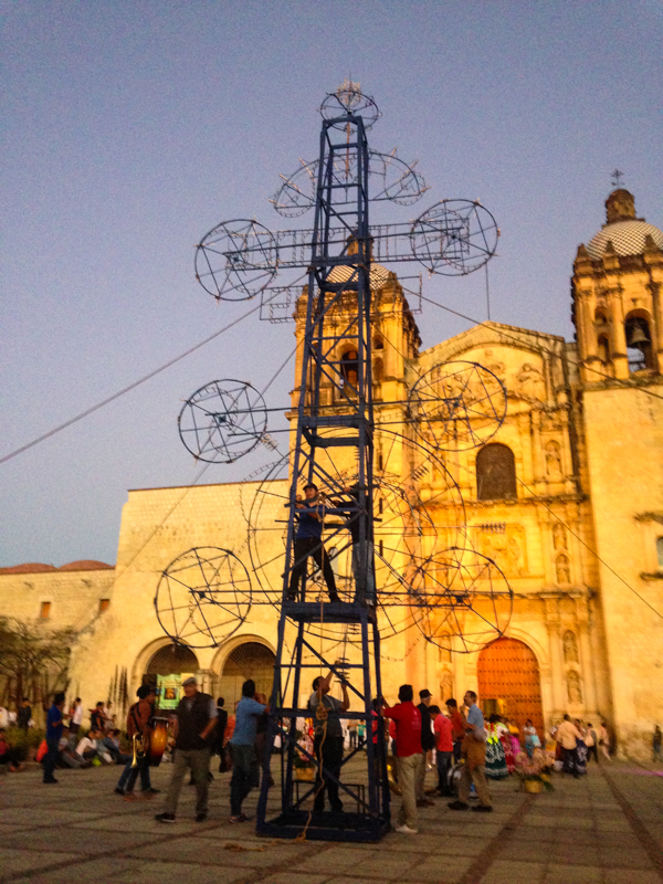 {This is how we do fireworks in Oaxaca}