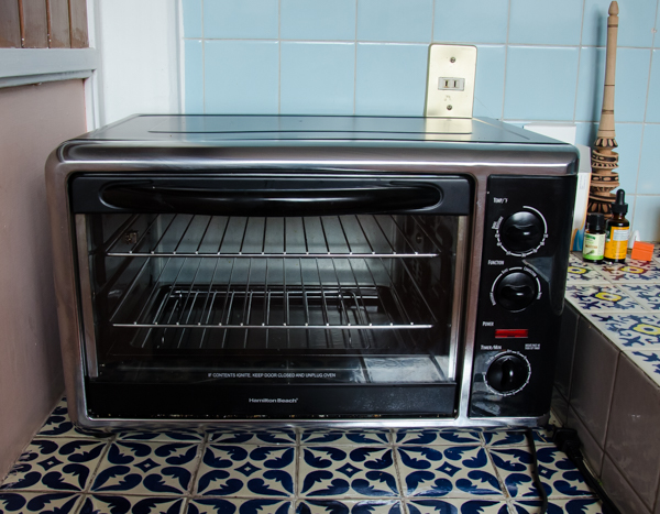 {The oven in our Mexican kitchen}
