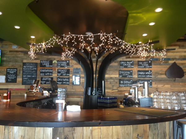 {One of our fave local bars - Bosque Brewery's Tap Room in Nob Hill. Within walking distance from the house.}
