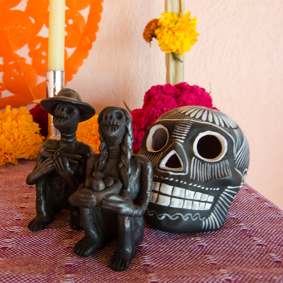 {Beautiful black pottery sculptures done by a lovely woman who lives in the valley.}